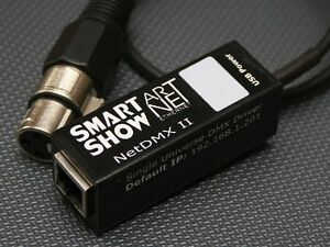 SmartShow NetDMX II Black : Art-net ArtNet sACN (E1.31) to DMX DMX512 Interface