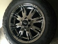 "4 x 20"" Chrome JR Motorsport Wheels with Tires"