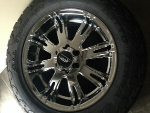 "4 x 20"" Chrome JR Motorsport Wheels WITHOUT Tires"
