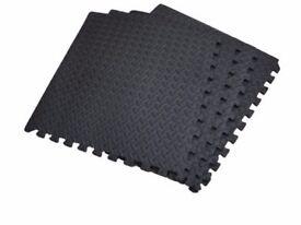 Floor Mats Pack of 4 Interlocking Gym Mat 16SqFt or 1.48 Sq Mts: NEW