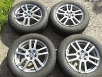 "OZ MSW 15"" ALLOYS & 195/65/15 TYRES. 5X100PCD VW MK4 GOLF/BORA MK1 SEAT LEON MK1 SKODA OCTAVIA POLO"