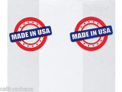 25 MADE IN USA Red White Blue on Clear Cello Bags 3.5x2x7.5