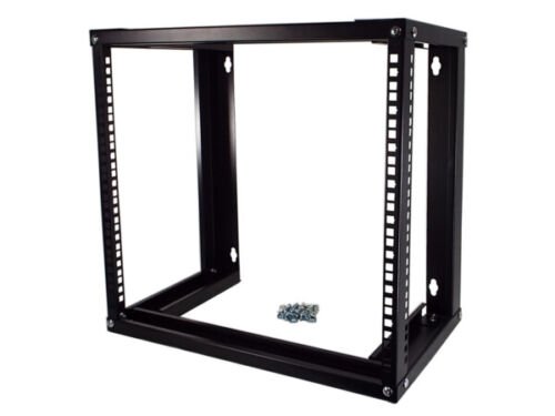 CNAweb 19 Inch Open Frame 9U Wall Mount Rack Cabinet, 12 Inches Deep