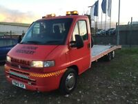 Citreon relay 2.8 hdi rare twin axle recovery truck