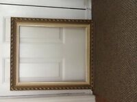 Gold wooden picture frame