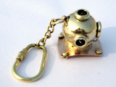 ANTIQUE BRASS MARK V DIVING HELMET KEY CHAIN DIVERS KEY CHAIN LOT OF 25 Pcs