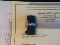 Women's white gold dimond ring for sale or trade