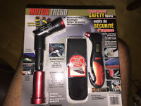 Tire Gauge + Rechargeable Flashlight