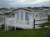 Caravans to let at Haven Devon cliffs