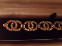 Chanel 925 silver and diamond bracelet new and boxed - to match bag!