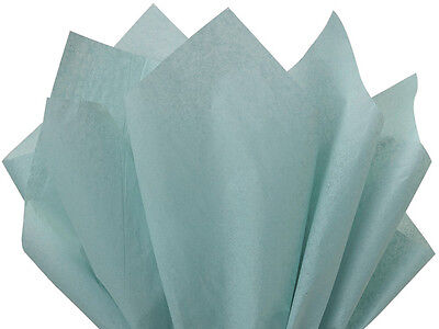 "BLUE HAZE Tissue Paper for Gift Wrapping 15""x20"" Sheets Eco-"