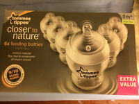 New Tommee tippee 6 bottles