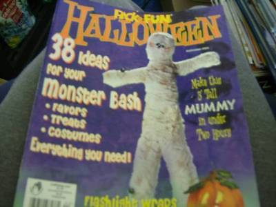 Pack-O-Fun Halloween 2004 Magazine -38 Ideas- Mummy/Spider/Costumes-French Fries