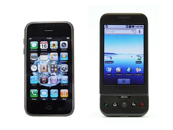 Apple iPhone 2G vs. T-Mobile G1