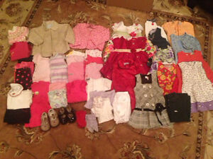 Large Lot of Size 12 month Girl Clothes and Shoes (45 items)