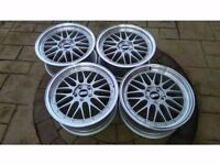 "ALLOY WHEELS 18"" BBS LM ALLOYS REPS SET OF 4 WILL FIT VW AUDI, SKODA SEAT PCD 5X112 ET45"