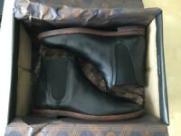CHELSEA BOOTS - HUDSON - TAMPER BLACK - 100% GENUINE LEATHER