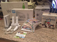 Nintendo Wii and accessories including wiifit