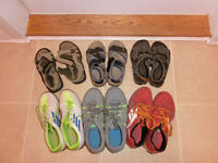 6 pairs of boys shoes/sandals