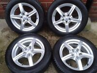 """FORD FOCUS MONDEO CONNECT ALUTEC 16"""" WINTER ALLOYS & TYRES 5X108PCD PEUGEOT CITROEN"""