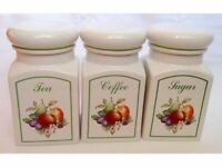 Vintage/Retro Johnson Brothers Fresh Fruit Tea Coffee Sugar Storage Jars