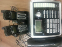 RCA 2 line desk top phone with 2 cordless phones
