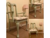 Shabby chic style occasion carver chair