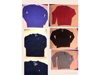 Ralph Lauren mens polo blend fleeces sweatshirt small pony round neck long sleeves 5x colours £15 ea