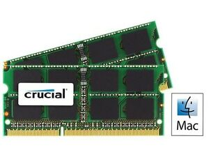 RAM upgrade for Apple Macbook Pro 2011 Crucial 16GB (2 x 8GB)