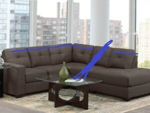 brand new sectional couch with warranty (tax included)