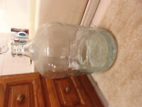 Glass carboy with a crack in it