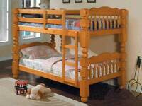 Solid wood single bunk bed
