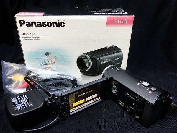 Panasonic HC-V160 Full HD Video Camera Image Stabilizer Slightly Used