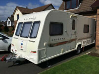 2011 4 berth Bailey's unicorn Valencia fixed bed with rear shower room