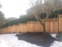 Great work cedar fence installation!!