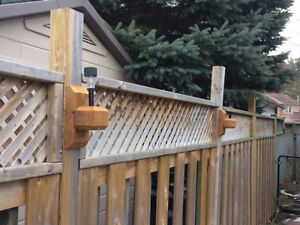 Add some light to your deck or fence