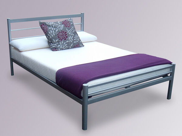 A Small Double/Double Metal Bed Frame with Mattress of Choicein Chadwell Heath, LondonGumtree - CALL 07459 394 421 CALL 07459 394 421 ~~Quik Same or Next Day Delivery~~ ~~BEFORE YOU BUY VIEWW AT OUR STORE~ Other sizes available Single ( £10) /Kingsize ( £30) FEATURES Flatpacked for easy home assembly Colours available Silver Robust Solid...