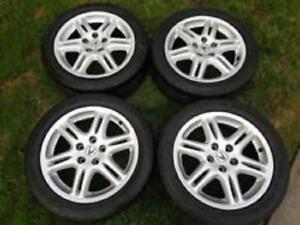 OEM Acura Rims and Tires 17 inches (5 Rims 5 Tires)