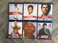 Dexter bluray DVDs series 1-6
