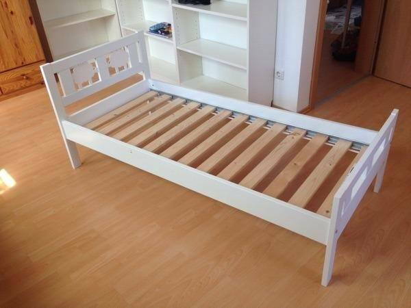 IKEA toddler bed frame KRITTER WHITE 70x160 with guard ...
