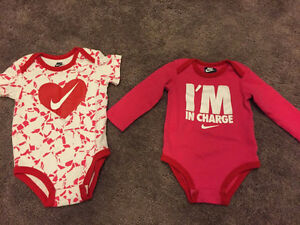 Nike- Baby Girl Onesies- Size 12 Months