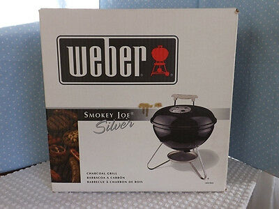 Weber 10020 Smokey Joe Silver Charcoal Bbq Grill Outdoor ...