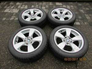 "set of genuine BMW 17"" dunlop winter run flat package in good co"
