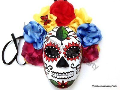 Masquerade Ball Mexican D? de Muerto Sugar Skull Day of the Dead Costume Wear](Day Of The Dead Skull Mask)