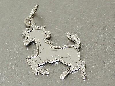 Anhänger Pferdchen Weißgold 585 - Weißgoldanhänger Goldpferd kleines Pferd Gold