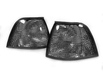 DEPO Euro Smoke Corner Signal Light Pair For 92-98 BMW E36 3D 318ti / 4D Sedan