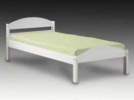 Verona Maximus White Wood Single Bed
