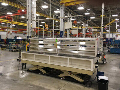 8000 Lb X 48 X 144 Advance Hydraulic Double Scissor Platform Lift Table