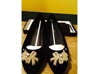 Chanel Diamanté Flats