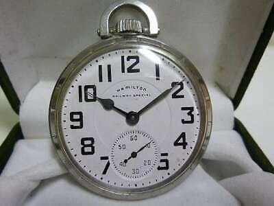 Hamilton 992B Railway Pocket Watch Manual Wind 21Jewels 51mm 1940's